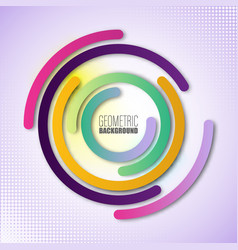color circles composition rings with vector image