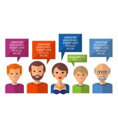 Conversation logo design template society vector