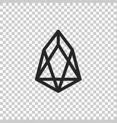 cryptocurrency coin eos icon isolated vector image