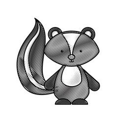 cute and tender skunk vector image