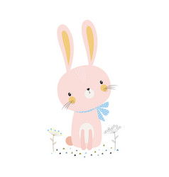 cute cartoon bunny vector image