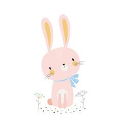cute cartoon bunny vector image