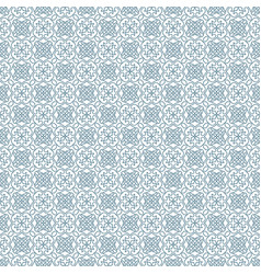 Cyan abstract damask pattern backdrop vector