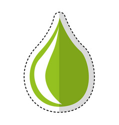 Drop natural isolated icon vector