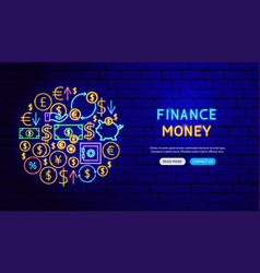 finance neon banner design vector image