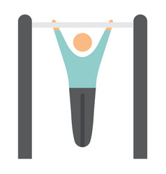 fitness pull up flat icon fitness and sport vector image