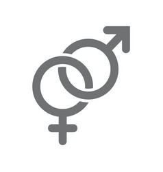 gender symbols male and female icon vector image