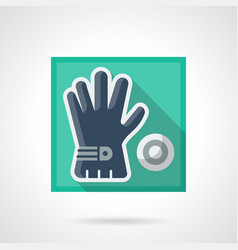 Golfer accessory flat square icon vector