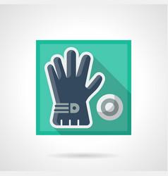 golfer accessory flat square icon vector image