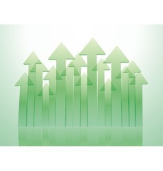 Green transparent arrows vector image
