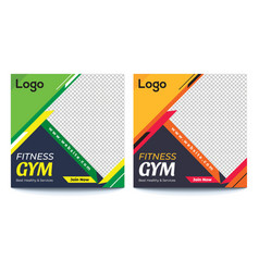 Gym social media banner vector