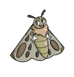 Happy moth cartoon vector