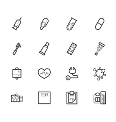 Hospital black icon set on white background vector