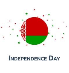 Independence day of belarus patriotic banner vector