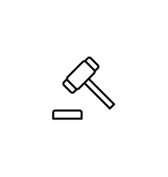 judge gavel auction icon vector image