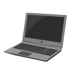 laptop icon on a white background notebook vector image