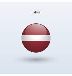Latvia round flag vector
