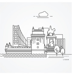 lisbon portugal vector image