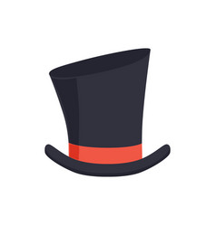 magic top hat gentleman hat cylinder with red vector image