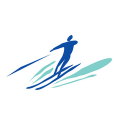 man on water skiing vector image