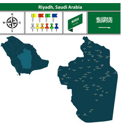 Map of riyadh saudi arabia vector