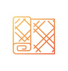 maple leaf tartan pattern gradient linear icon vector image