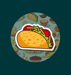 Mexican food card vector