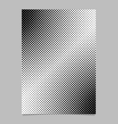 monochrome halftone dot pattern flyer template vector image