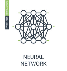 Neural network icon knots cluster of neural web vector
