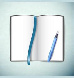 opened sketchbook vector image