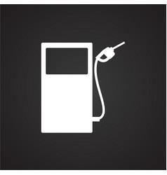Petrol refuel station on black background vector