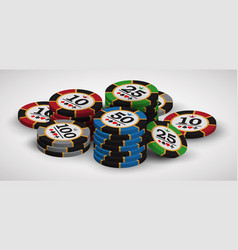 Playing casino chips vector