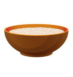 porridge with milk healthy organic breakfast in vector image