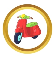 Red scooter icon vector