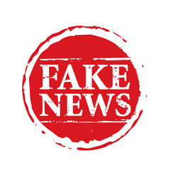Red stamp and text fake news vector