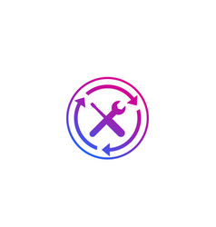 Repair in progress icon vector