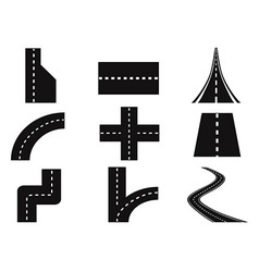 Roads set vector