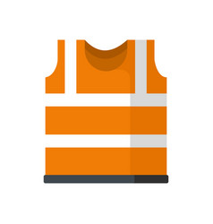 Safety vest icon flat style vector