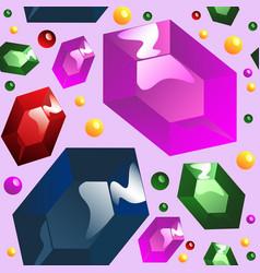 seamless pattern of gemstones vector image