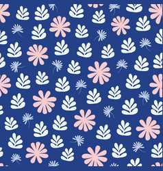 Seamless repeat pattern stylized flowers and vector
