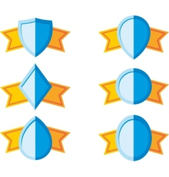 simple shields with ribbon vector image