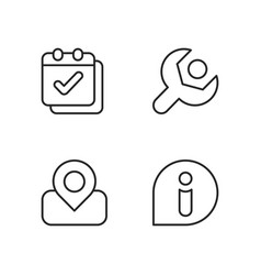 smartphone interface pixel perfect linear icons vector image