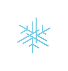 snowflakes snow flakes logo icon element vector image