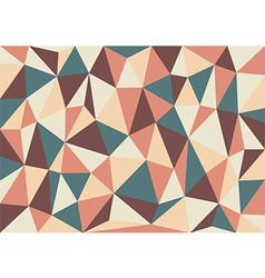 Soft retro triangles background vector