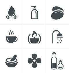 Spa Icons Set Design vector