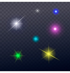 stars and sparkles - collection design elements vector image