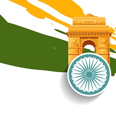 Stylish indian independence day design vector