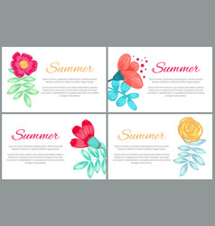 summer set of colorful banners vector image