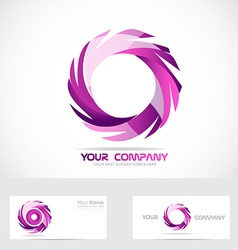 Swirl rotation circle logo vector