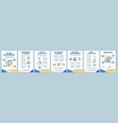 Talent management brochure template layout vector